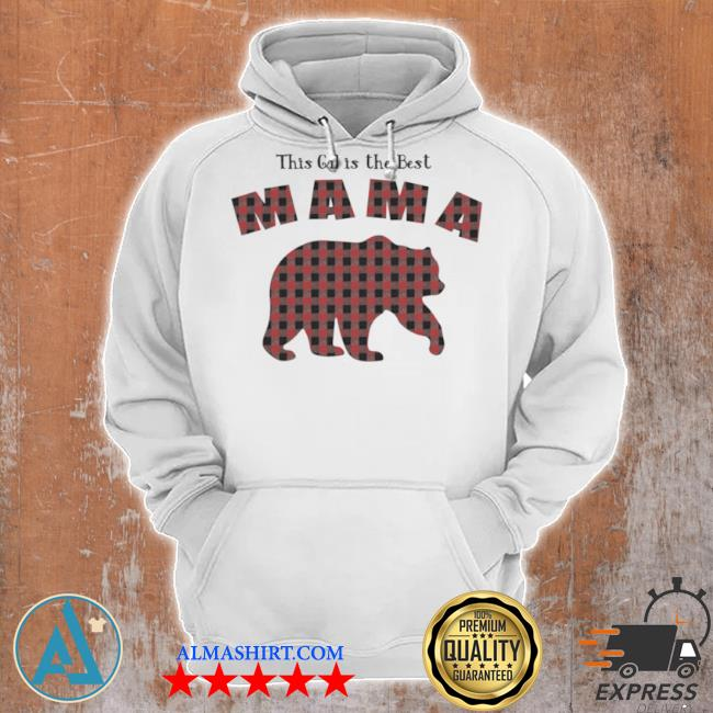 Mama bear plaid proud mothers day fun mom s Unisex Hoodie