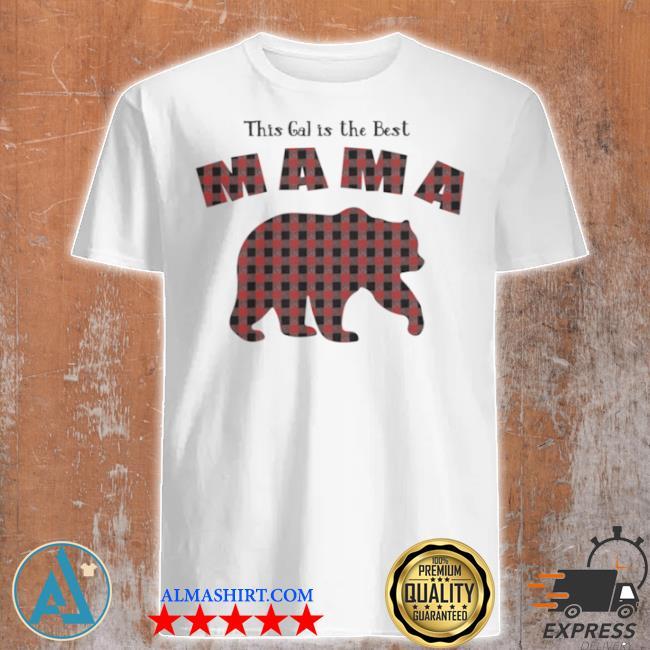 Mama bear plaid proud mothers day fun mom shirt