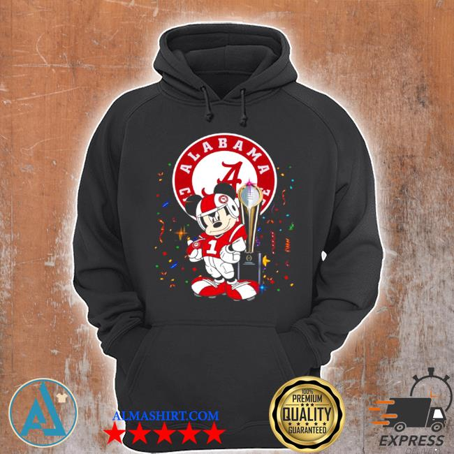 Mickey mouse and cup alabama crimson tide football s Unisex Hoodie