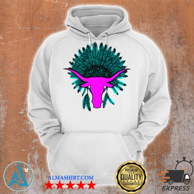 Native American hat with cattle s Unisex Hoodie