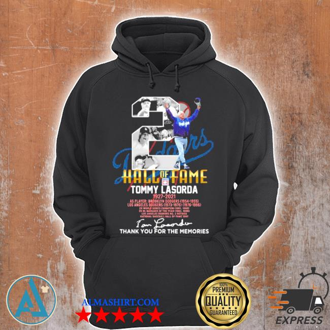 Number two hall of fame tommy lasorda football Dodgers s Unisex Hoodie