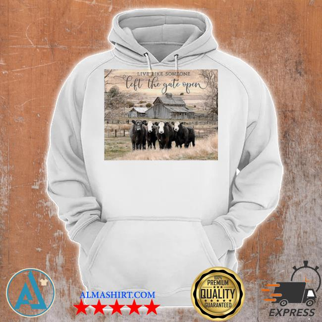 Ohcanvas live like someone left the gate open cows s Unisex Hoodie