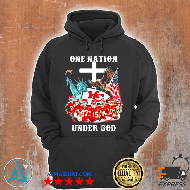 One nation under god Chiefs eagle American flag s Unisex Hoodie