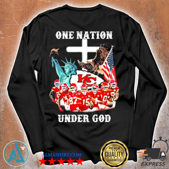 One nation under god Chiefs eagle American flag s Unisex longsleeve
