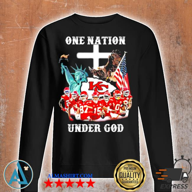 One nation under god Chiefs eagle American flag s Unisex sweatshirt