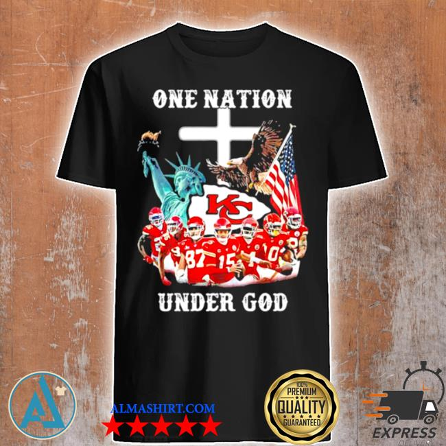 One nation under god Chiefs eagle American flag shirt