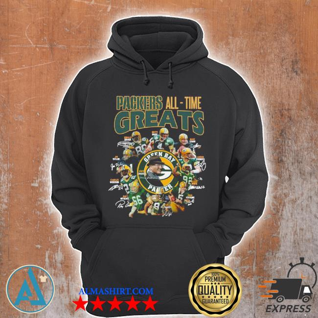 Packers all time greats team signature s Unisex Hoodie
