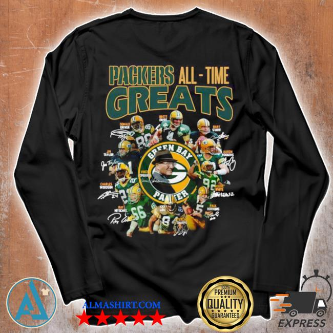 Packers all time greats team signature s Unisex longsleeve