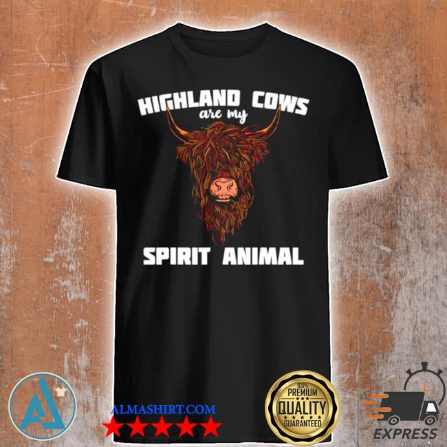 Scottish highland cattle animals cow breeder shirt