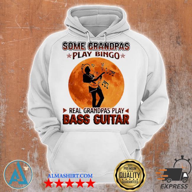 Some grandpas play bingo real grandpas play bass guitar moon s Unisex Hoodie
