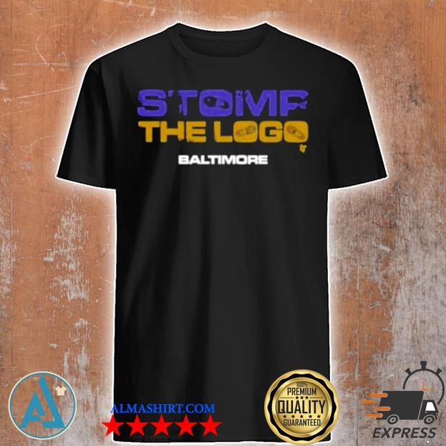 Stomp the logo breakingt baltimore football shirt