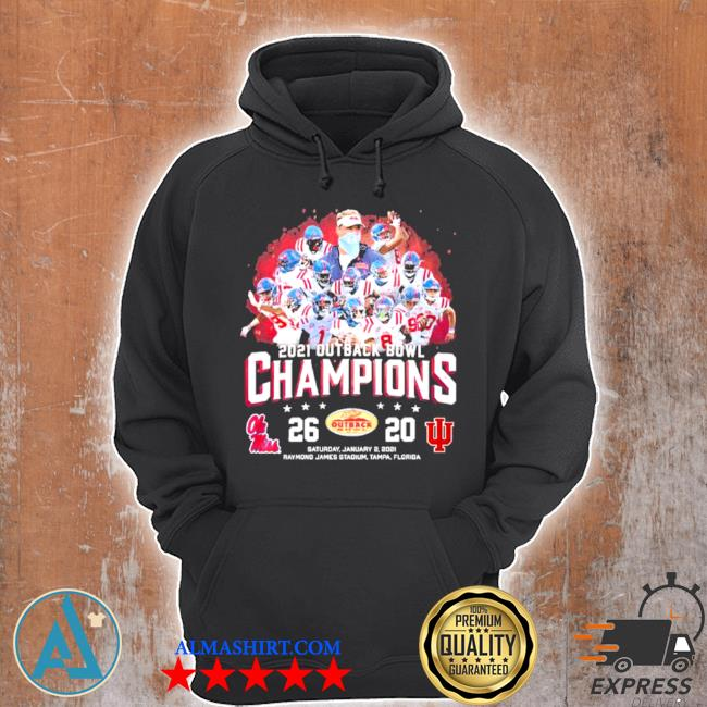 Team ole miss 2021 outback bowl champions s Unisex Hoodie