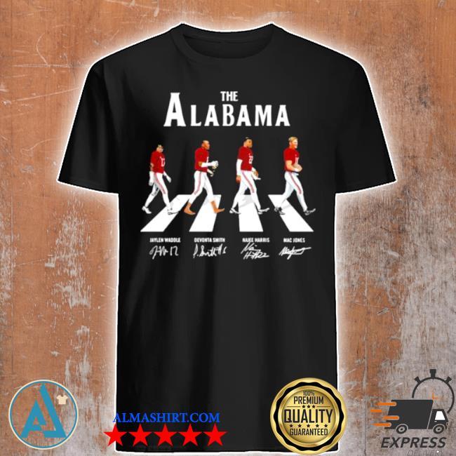 The alabama football team signature abbey road shirt