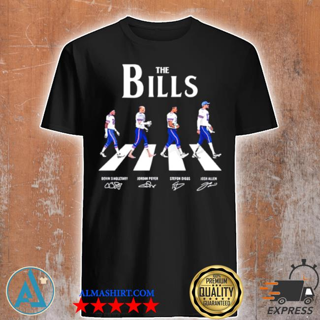 The Bills abbey road signatures shirt