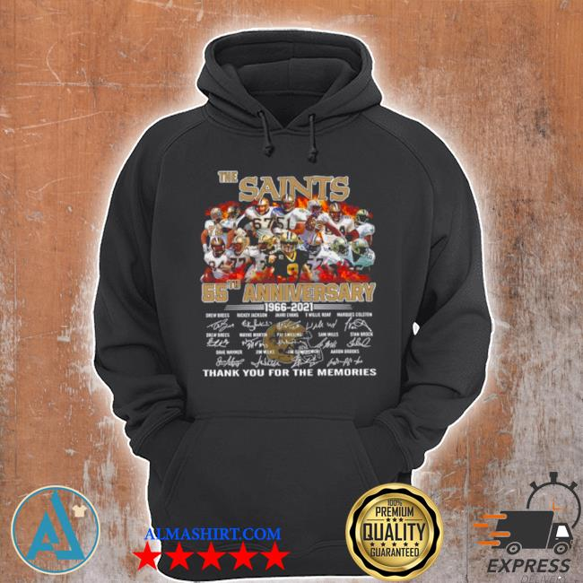 The saints 55th anniversary 1966 2021 signatures thank s Unisex Hoodie