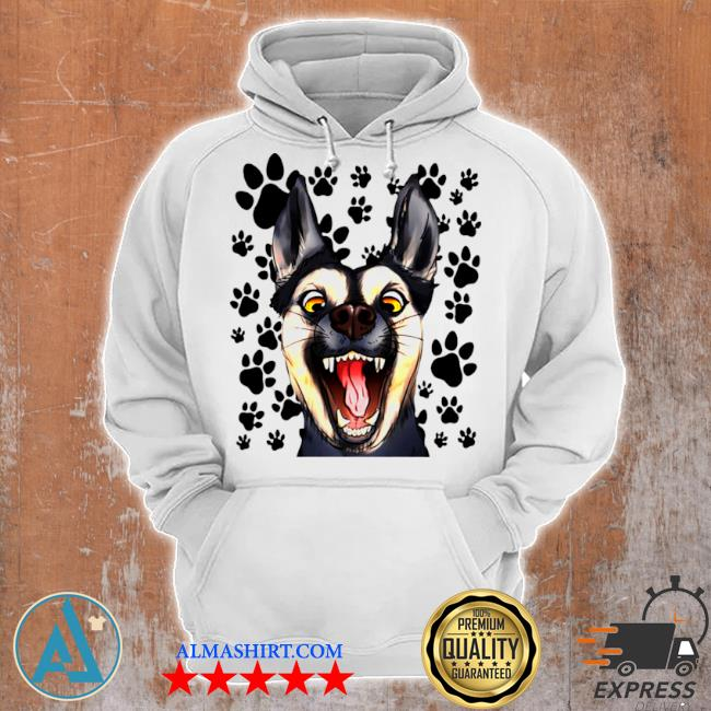 The terrified dog s Unisex Hoodie