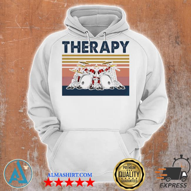 Therapy drum band music vintage s Unisex Hoodie