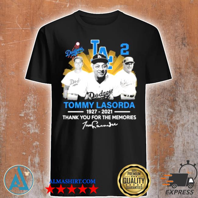 Tommy lasorda 1927 2021 signature los angeles Dodgers legend shirt