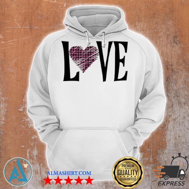Valentines day buffalo plaid love hearts s Unisex Hoodie