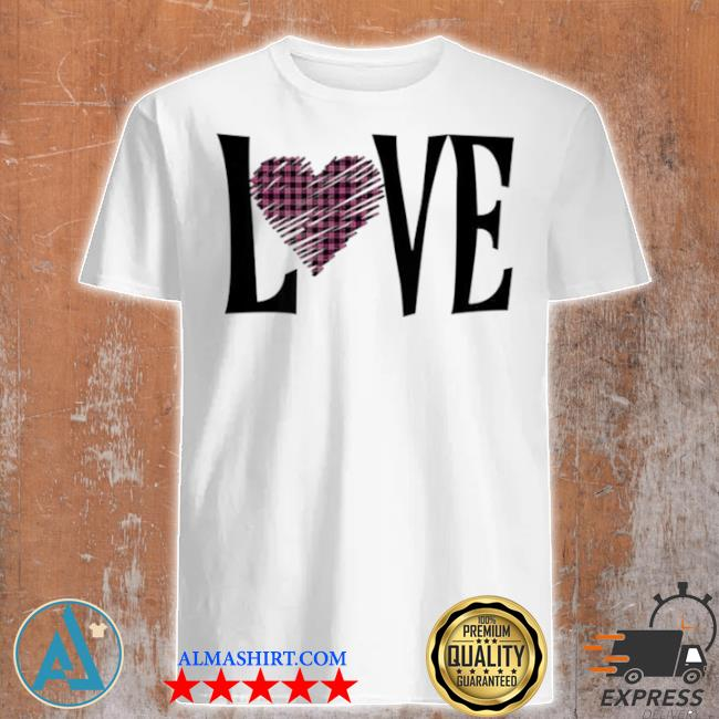 Valentines day buffalo plaid love hearts shirt