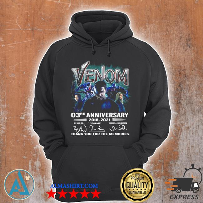 Venom 03rd anniversary thank you for the memories s Unisex Hoodie